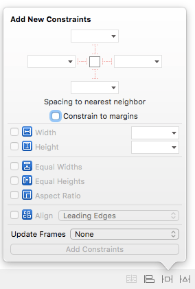 Xcode Add New Constraints