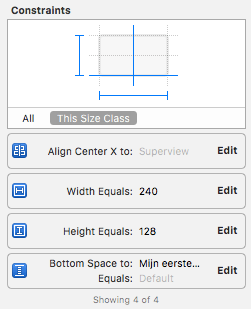 Auto Layout constraints in Xcode