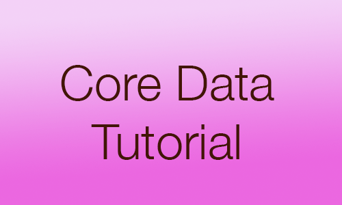 Core Data Tutorial